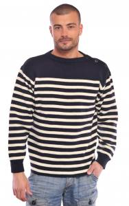 Le pull marin traditionnelle 3 boutons coté